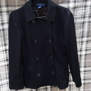 Double Breasted J. Crew Black Peacoat
